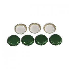 Кронен-пробки для пивных бутылок Ø 26 мм (зеленые) 100 шт.