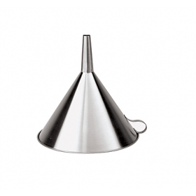 Воронка из нержавеющей стали гладкая, диаметр 25 см